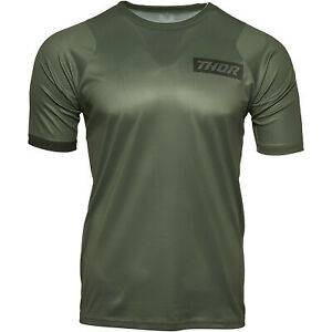 Thor Racing 2021 Assist MTB Short-Sleeve Jersey Army Green All Sizes