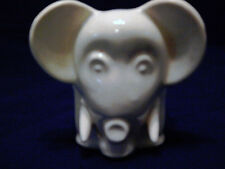 White McCoy Mid-Century Big Eyed 4 x 4 x 4 Cube Cutie Ceramic Planter HTF