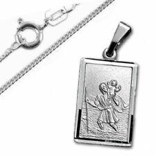 Heiliger Christopherus Anhänger, rechteckig- Silber 925- inkl. Kette