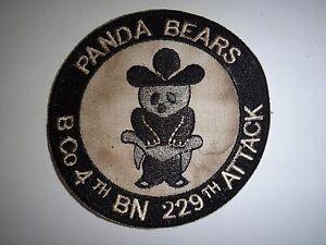 "US Army 229th Aviation Regiment 4th Battalion Company B ""PANDA BEARS"" Patch"