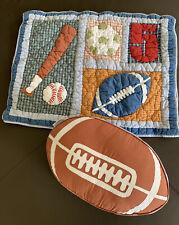 Lot 2 The Company Store Sports Standard Pillow Sham Decorative Pillow Football