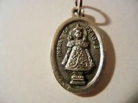 """Infant of Prague & Sacred Heart 1"""" tall oval medal New! Made in Italy"""