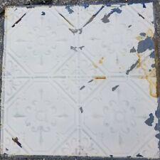 """Antique Metal Tin Ceiling Tile 24""""X 24"""" Panel Vintage Authentic 1900's Original"""