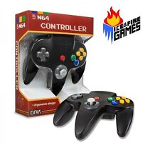 BLACK N64 Controller - New in Box (Nintendo 64) Classic Joypad Design