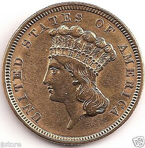 1854 Indian Head $3 Gold FIRST YEAR OF THE $3 GOLD