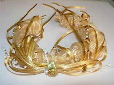 Girls Golden Tiara HAIRBAND Bridesmaid Wedding Party Head Band Hair Accessory
