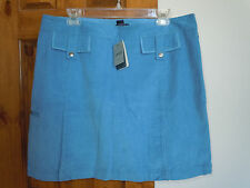 IZOD GOLF womens casual corduroy athletic performance skorts size 14 blue NWT