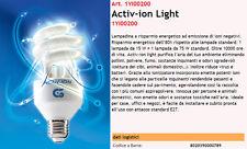 Lampadina purifica aria a risparmio energetico a emissione di ioni negativi