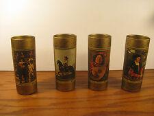 Glasses Jim Beam Set of 4 Barware Vintage RARE Art Collectors Series, Volume II