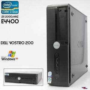 Mini Desktop PC Computer Dell VOSTRO 200 Intel Core 2 Duo E4400 2GB 160GB