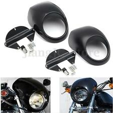 AUS Front Headlight Fairing Mask Cowl For Harley Sportster Dyna FX XL 883 1200