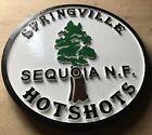 Fire Department Springville Hotshots 3D routed wood patch Plaque sign Custom