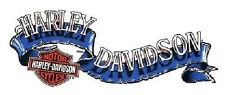 Harley Davidson Wave Banner Blau Aufkleber 15x6cm Blue Decal Bar + Shield Helm
