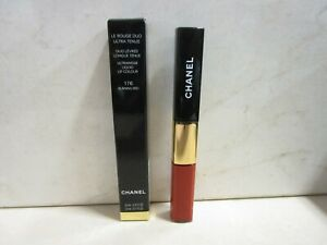 CHANEL LE ROUGE DUO ULTRAWEAR LIQUID LIPCOLOR #176 BURNING RED NEW WITH BOX