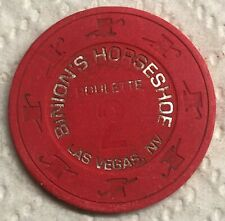 Binion's Horseshoe Casino Obsolete Roulette 2 Top Hat and Cane Mold Chip