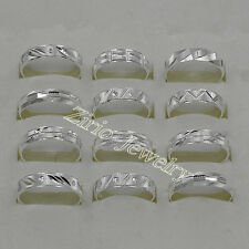 Wholesale Lots 10Pcs 925 Solid Silver Mens Rings Size 8 to 11