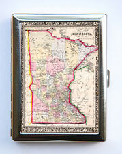 Minnesota Map Cigarette Case Wallet Business Card Holder id case atlas map