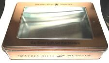 """Empty Tin With Lid Many Uses 8 1/4"""" x 5 1/4"""" x 2 1/4"""" tall COPPER"""