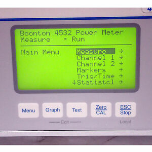 BOONTON 4532 RF PEAK POWER METER, DUAL CHANNEL 10kHz - 40GHz TESTED AND WORKING