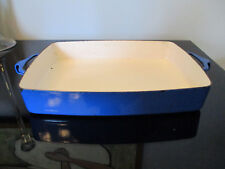 Vintage DANSK Kobenstyle Mid Century Modern Enamel BLue Baking Pan France JHQ