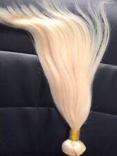 Prenium Europäisches Echthaar Glatt-  40+cm (Blond 613)