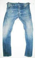 HOT Men DSQUARED2 @ BIKER Slim TAPERED STRETCH DISTRESS Denim Jeans 44 EUR or 29