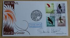 Birds of Paradise 1992 Papouasie New Guinea FDC signed by Actor Simon Williams
