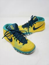 Nike Kyrie 1 Letterman 705277-737 Mens 7 Yellow Teal Irving Basketball Shoes