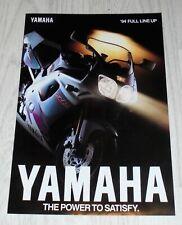 Yamaha UK Sales range brochure 1994 YZF750R RD350R FZR600R FZR400RR GTS1000 TZR