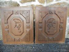 paire de panneaux sculptés en chêne anciens.