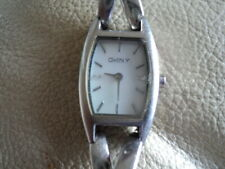DKNY New York Women's Watch Petite Silver Tone Twist Crossover Bracelet NY4631
