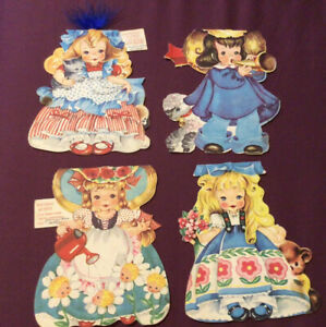Storyland Doll Greeting Cards Set Of 4 USA Rare In Aust. Very Cute Story Inside