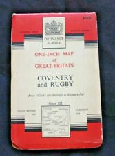 National Grid, Coventry & Rugby - Sheet 132, Crown 1954 - Cloth Map