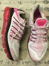 Nike Air Max 95 Womens Running Shoes White/Pink 553554-161 2012 Size 8.5 EUC! E8