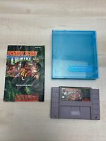 DONKEY KONG COUNTRY W/ hard case (Super Nintendo SNES) w/ manual Tested Working