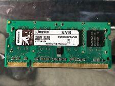 KINGSTON 512MB KVR KVR533D2S4/512 DDR2 sodimm notebook memoria RAM USA