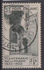 1935 REGNO D' ITALIA N.393 ANNULLO ORIGINALE USATO RR SPL FIRMA COLLA