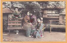Japan Postcard - Japanese Women Geisha Outdoors