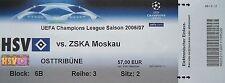 TICKET UEFA CL 2006/07 Hamburger SV - ZSKA Moskau