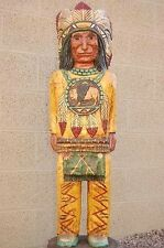 5' CIGAR STORE INDIAN CHIEF Carved w Mandella Native Made in USA by F Gallagher