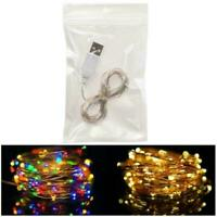 LED Strip Light USB Wire Tape Holiday String Lighting Tree Fairy Christmas D6K2