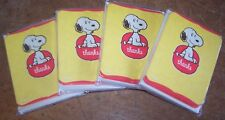Lot of 4 packages Vintage Hallmark Snoopy Thank You Note Cards & Envelopes