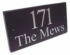 ENGRAVED SLATE HOUSE DOOR NAME PLAQUE/PLATE/NUMBER/SIGN - Made to Order