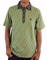 Alpinestars Men's Short Sleeve Jacquard knit Polo Shirt Large Soft Green