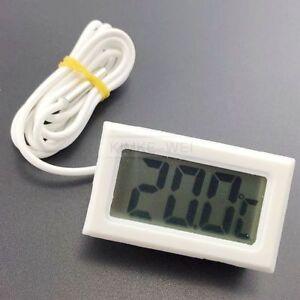 Mini White Digital LCD Thermometer Temperature Meter Probe Sensor New