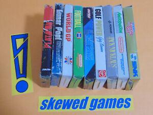 NES Game Box Inserts Lot - 9 Boxed Games Bundle Platoon Lunar Pool - Nintendo