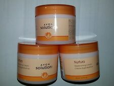 Avon SOLUTIONS  Nurtura  Replenishing  Cream  1.7 fl.oz. Lot of 3