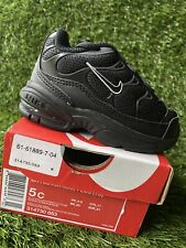 TODDLER BOY: Nike Little Air Max Plus, Black - Size 5C 314730-053