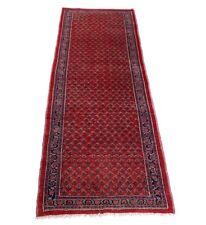 Sarough Mir Läufer 295 x 105 cm, Handgeknüpfter Orient Teppich Perser in Rot
