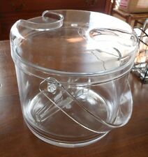 ACRYLIC ICE BUCKET W/ HANDLE, REMOVABLE LINER & TONGS & NAPKIN DISPENSER